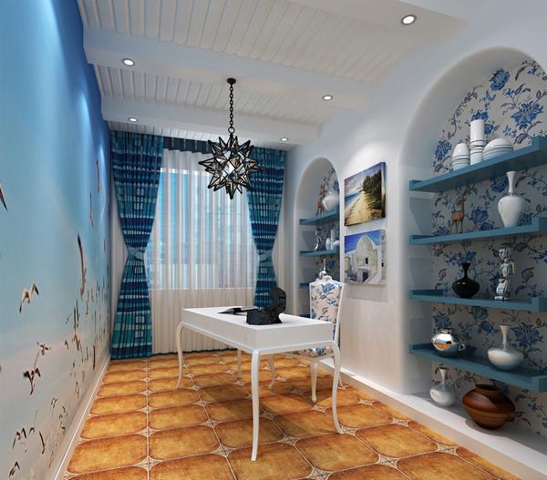 简约 书房图片来自阿布的小茅屋15034052435在富力城148平米--地中海的分享