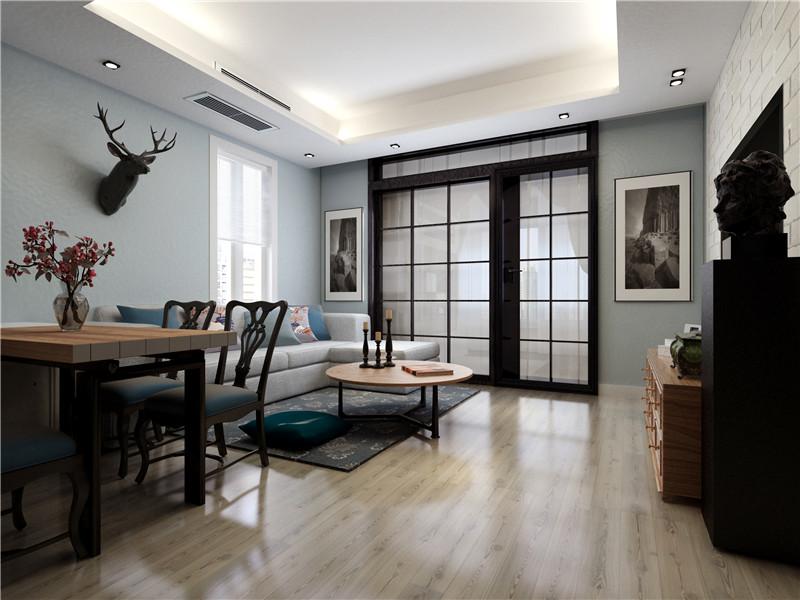 龙发装饰 府上和平 北欧 二居 室内装修 客厅图片来自龙发装饰天津公司在府上和平90平米北欧风格的分享