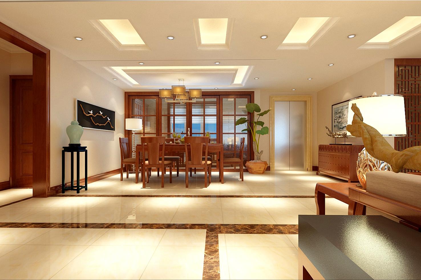 别墅 简约 小资 餐厅图片来自轻舟装饰-90后的华仔在香江别墅-586平米-现代简约的分享