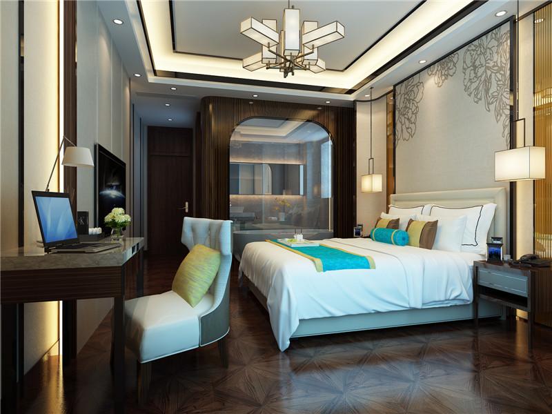 龙发装饰 别墅 中式 新中式 鸿雁岛 卧室图片来自龙发装饰天津公司在鸿雁岛800平米新中式风格的分享