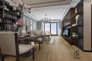 中城嘉汇新中式两居室93平装修