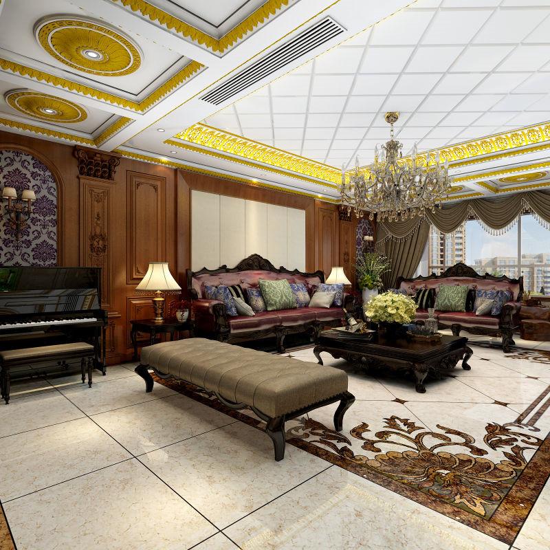 龙发装饰 和平园 欧式 平层 两居 二居 客厅图片来自龙发装饰天津公司在和平园180平米欧式风格的分享