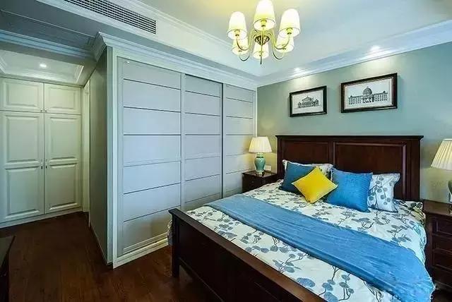 卧室图片来自家居装饰-赫拉在兰州实创装饰110㎡美式实景两居的分享