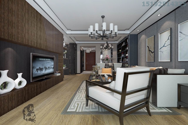 二居 新中式 实创 中城嘉汇 白领 客厅图片来自快乐彩在中城嘉汇新中式两居室93平装修的分享