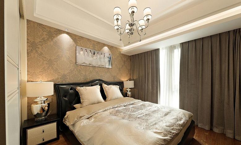 卧室图片来自家装大管家在黑金时代 109平现代简约舒适3居的分享