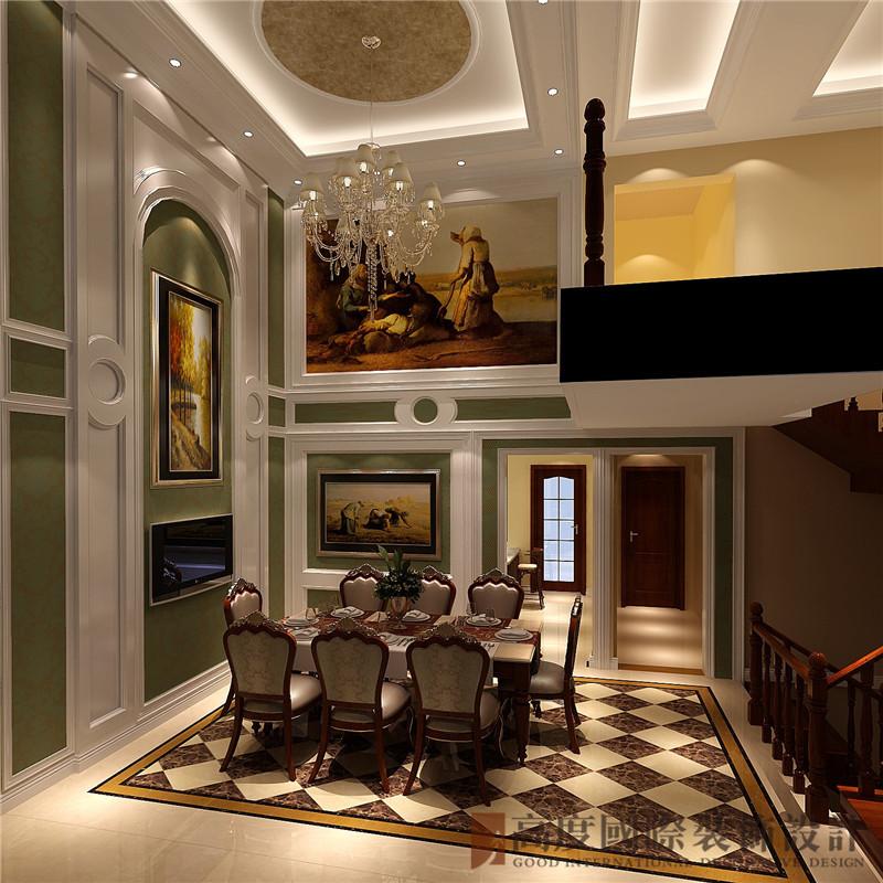 简欧 欧式 中海尚湖世 别墅 小资 餐厅图片来自高度国际姚吉智在300平米简欧自然简朴的生活态度的分享
