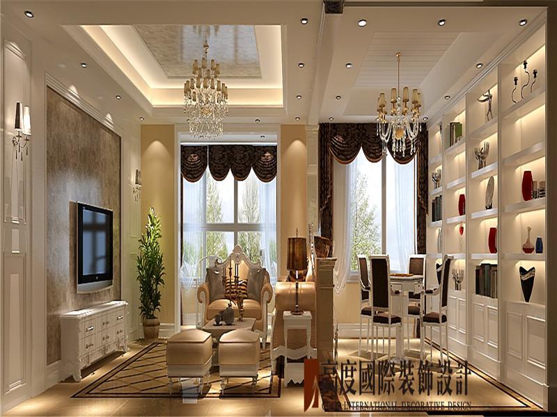 简约 欧式 三居 白领 小资 客厅图片来自北京高度国际装饰在金色漫香苑190㎡简欧的分享