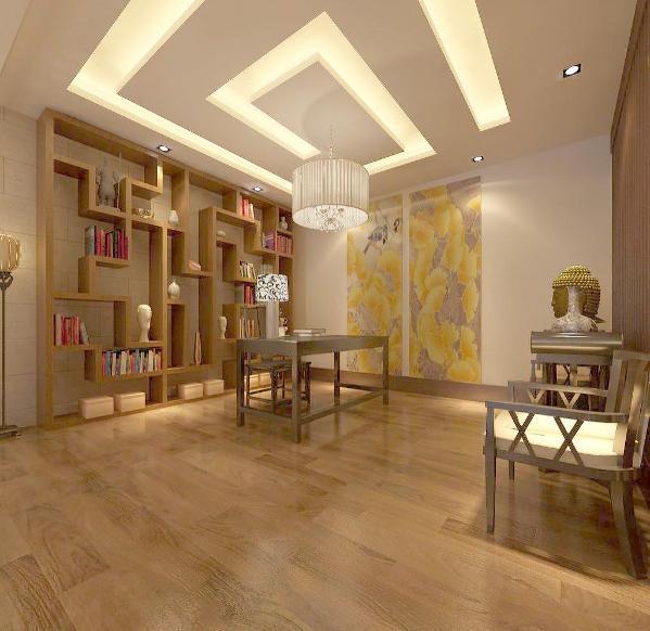 走进书房,入眼处是一整套的红木家具,正面背景墙寒梅,白兰点缀其间,尽显主人傲骨铮铮,格调清雅。