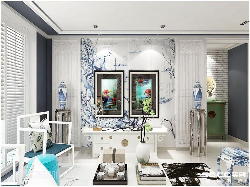 麦岛金岸 青岛实创 实创装饰 120平装修 客厅图片来自实创装饰集团青岛公司在麦岛金岸120平装修案例的分享