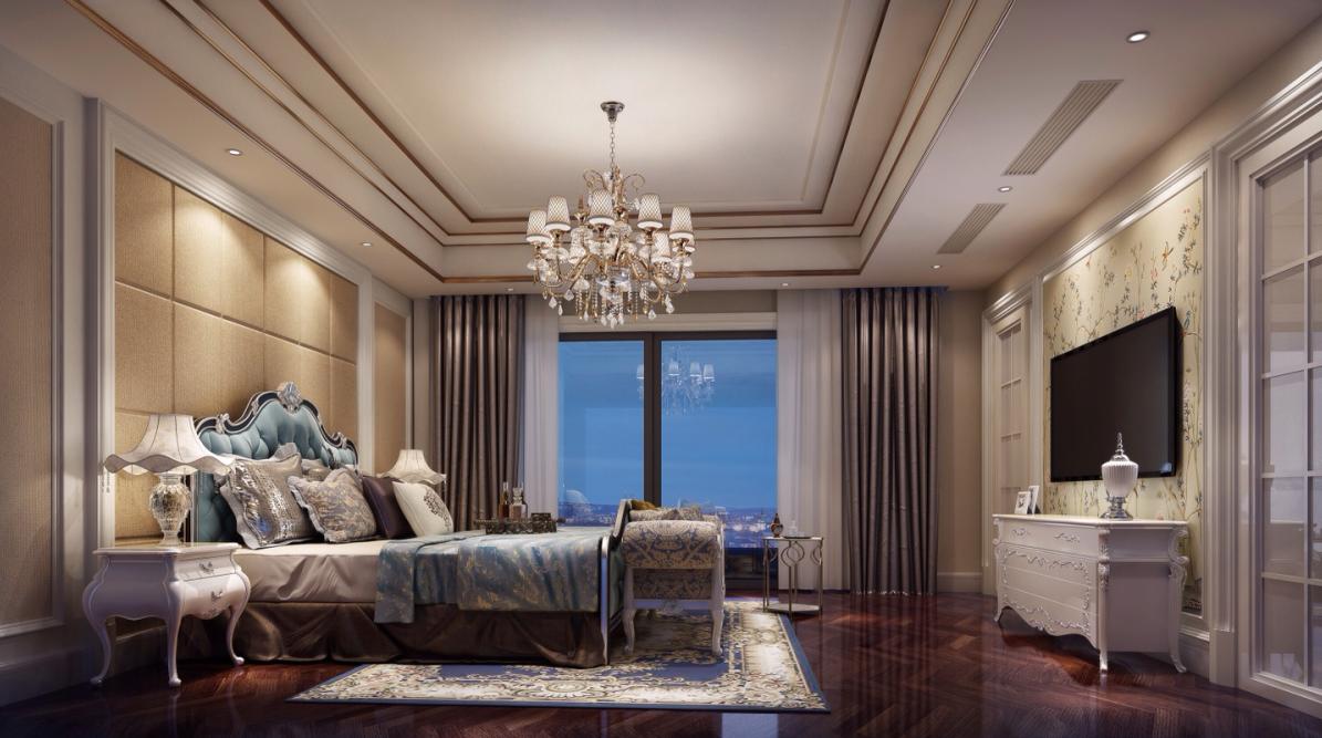 简约 欧式 别墅 现代 卧室图片来自名雕丹迪在600平米现代风格深圳香山美墅的分享