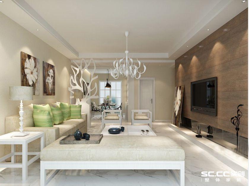 北欧风格 海乐府 客厅图片来自全屋整装设计在青岛海乐府125平北欧风格装修的分享