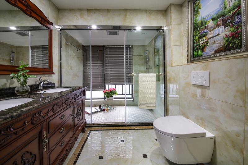 简约 别墅 混搭 卫生间图片来自名雕丹迪在南山300平米 珑御府别墅的分享