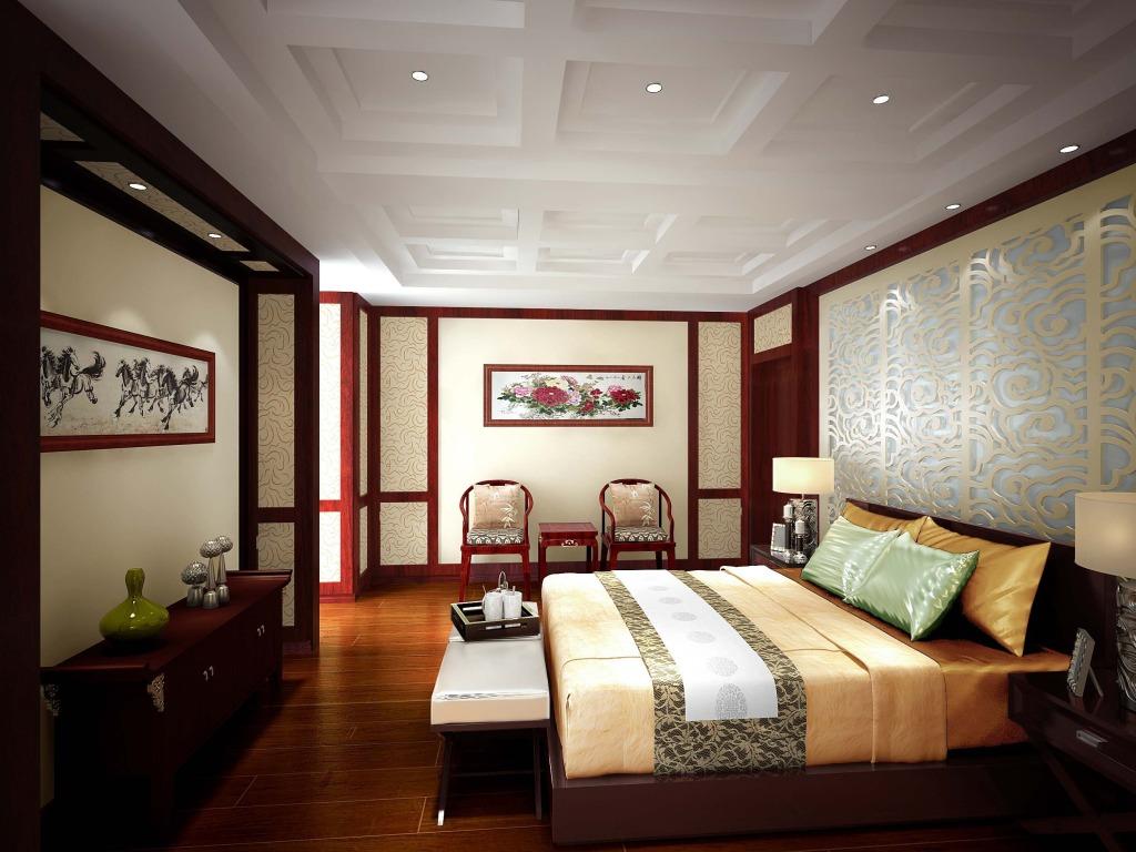 中式装修 古典装修 卧室图片来自紫云轩中式装修在湖南湘江大宅古典中式装修实例的分享