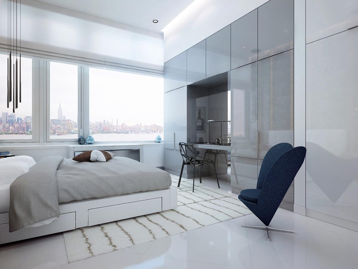 简约 卧室图片来自别墅设计师杨洋在精致现代风格设计的分享