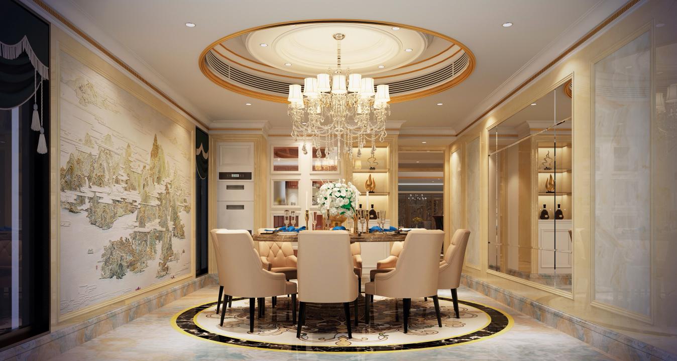 简约 欧式 别墅 现代 餐厅图片来自名雕丹迪在600平米现代风格深圳香山美墅的分享