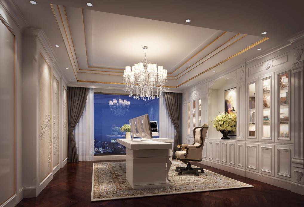 简约 欧式 别墅 现代 书房图片来自名雕丹迪在600平米现代风格深圳香山美墅的分享