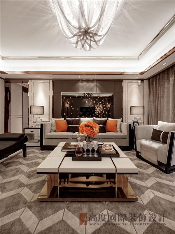 后现代 三居 定制家装 小资 80后 客厅图片来自高度国际姚吉智在153平米后现代写意生活品味从容的分享