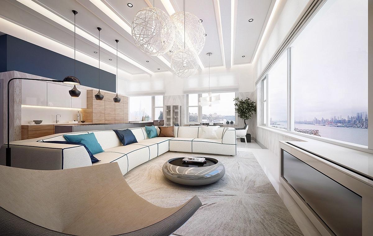 简约 客厅图片来自别墅设计师杨洋在精致现代风格设计的分享