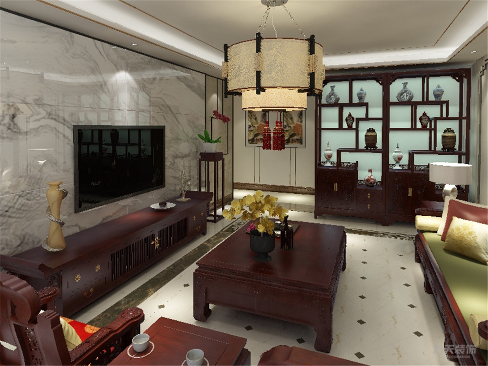 罗马花园 三居 中式 客厅图片来自阳光放扉er在力天装饰-罗马花园140㎡的分享