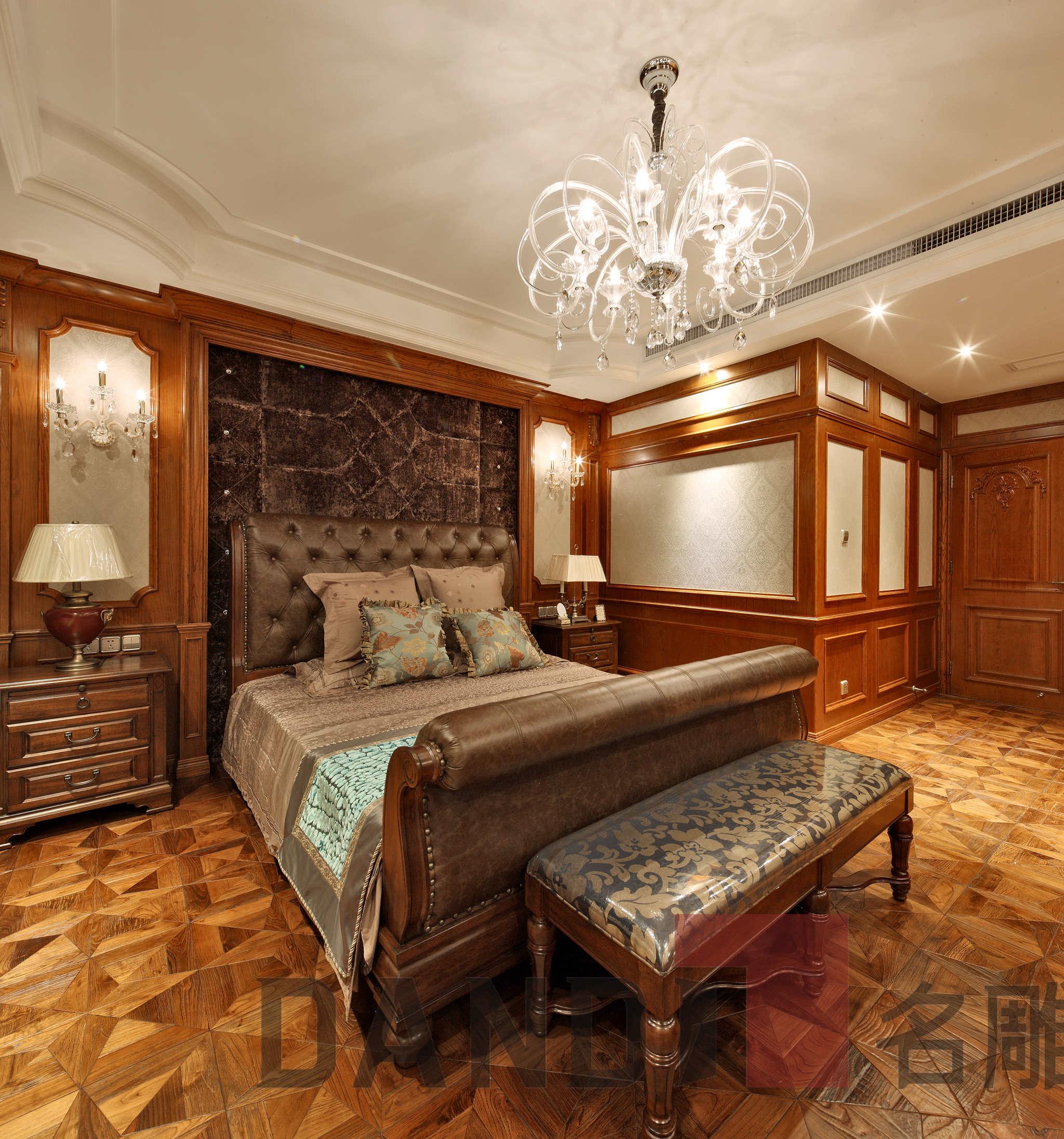 美式 欧式 别墅 卧室图片来自名雕丹迪在天御山-美式风格-700平-独栋的分享