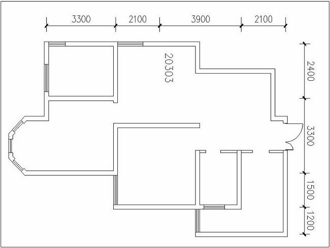简约 现代 二居 白领 小资 80后 户型图图片来自西安城市人家装饰王凯在国金华府92平现代风格的分享
