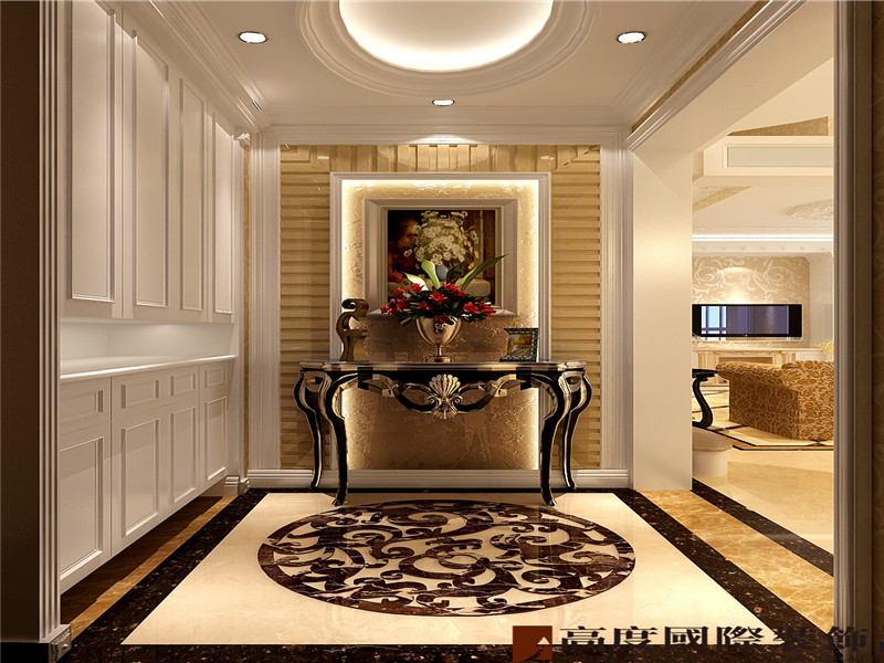 欧式 现代 豪华 大气 公寓 其他图片来自北京高度国际装饰在鲁能七号院190欧式的分享