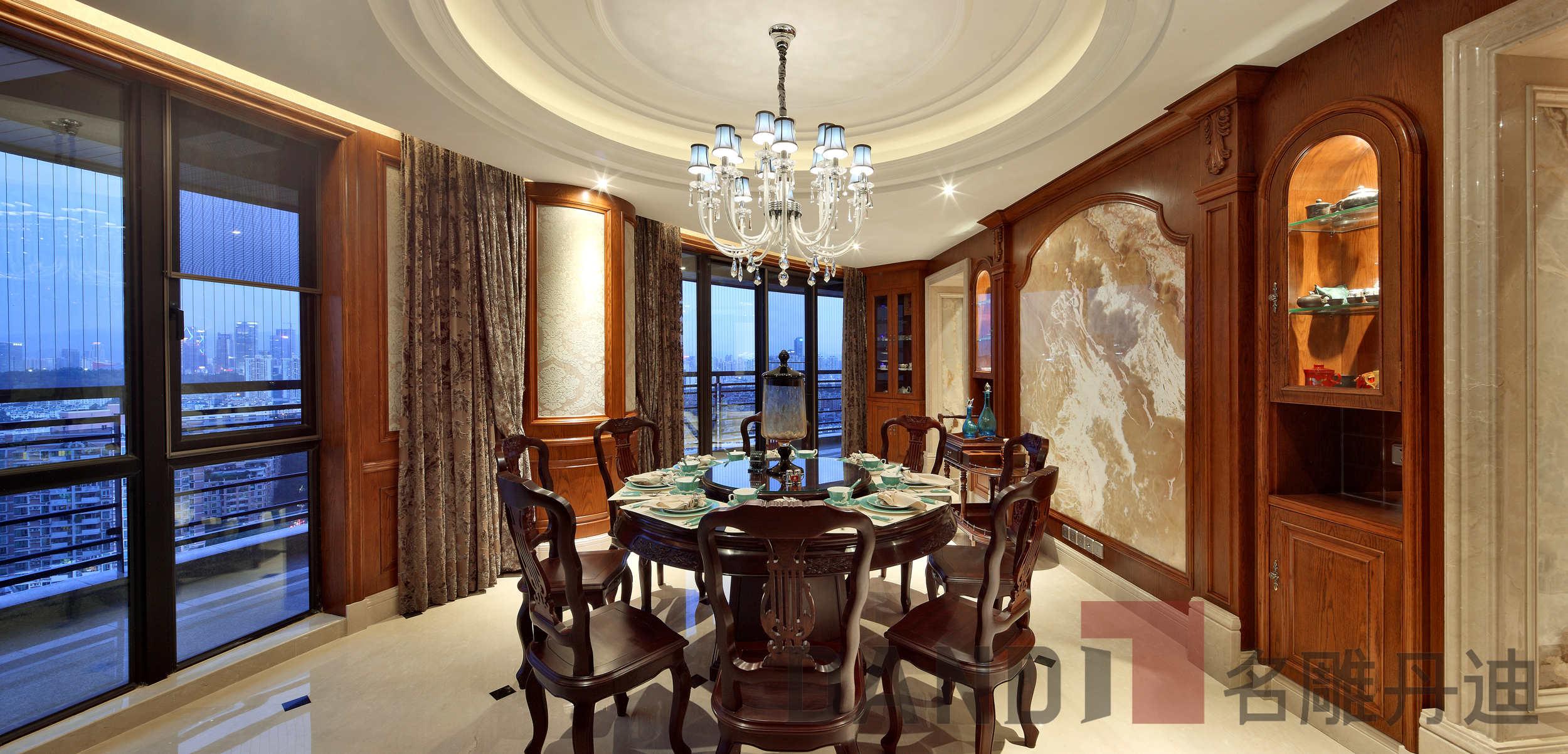 美式 欧式 别墅 餐厅图片来自名雕丹迪在天御山-美式风格-700平-独栋的分享