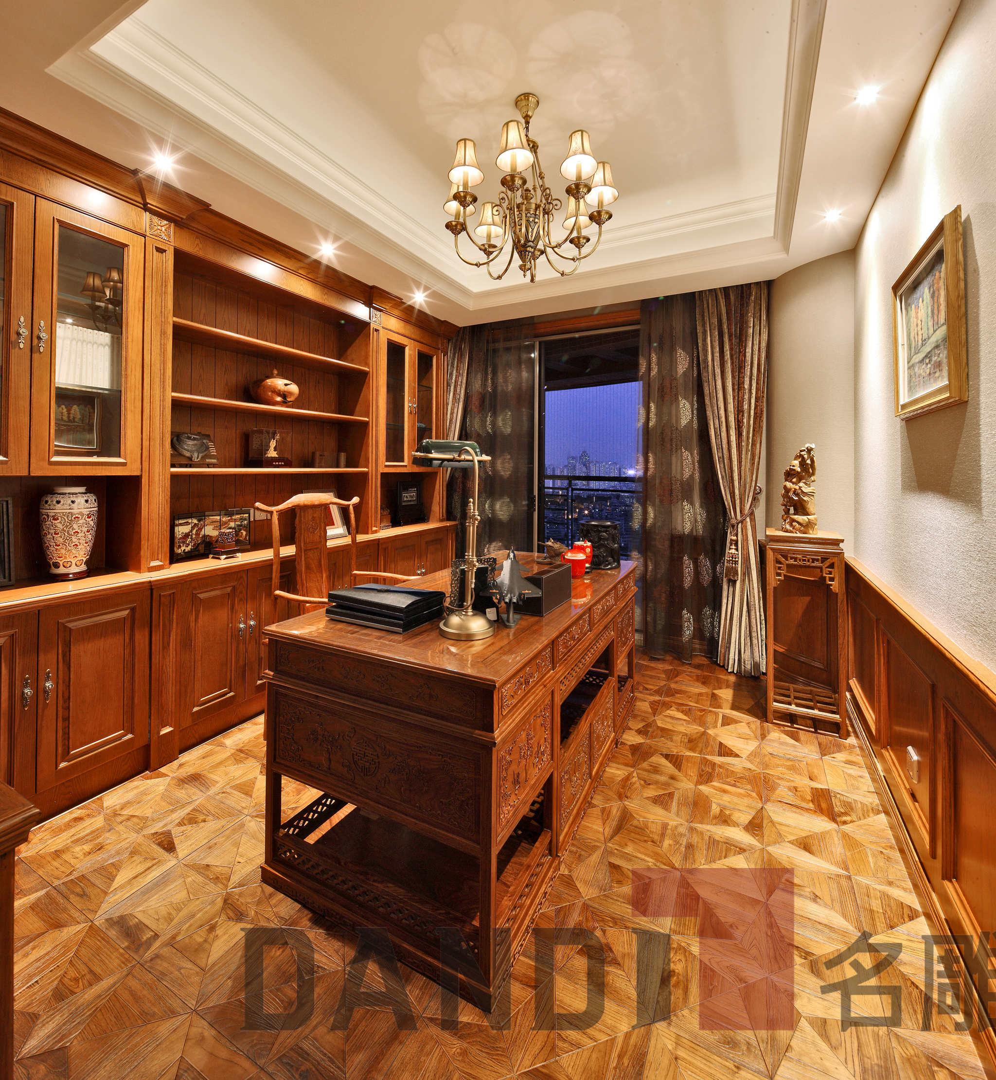 美式 欧式 别墅 书房图片来自名雕丹迪在天御山-美式风格-700平-独栋的分享