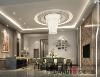 餐厅的简练线条营造出简约温馨的就餐环境。主卧室的灯光采用局部重点照明的手法,营造富有层次的浪漫就寝环境;
