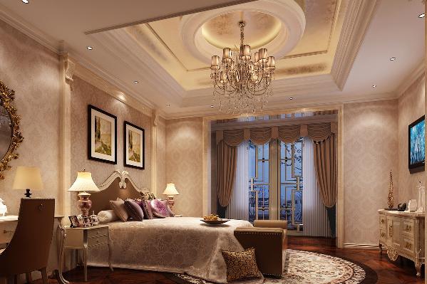 二层主卧:温馨、高贵、典雅,富有违和感的空间感触。