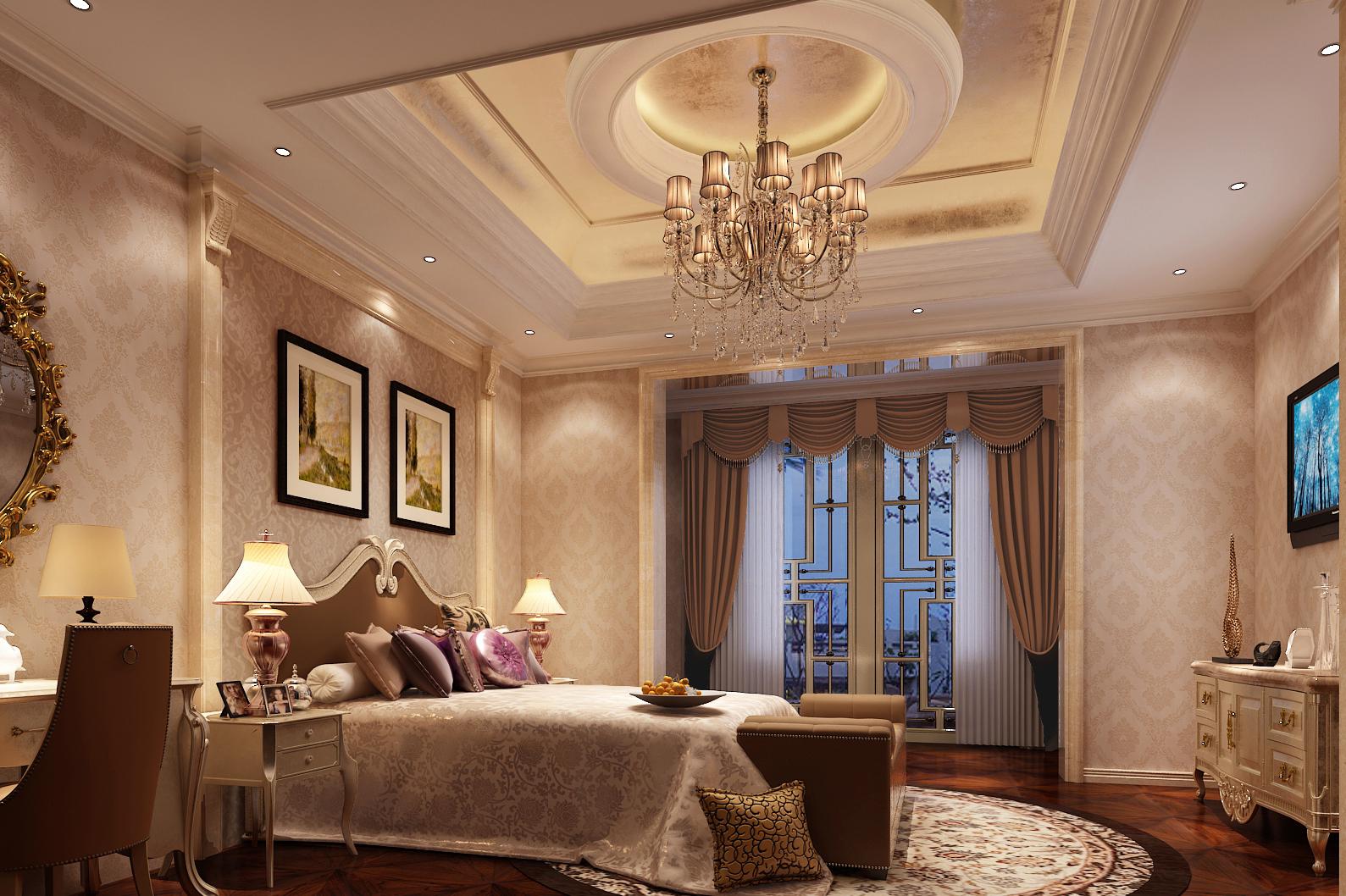 别墅 美式 卧室图片来自轻舟装饰-90后的华仔在格拉斯小镇-1000平米-美式风格的分享