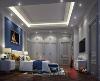 几个卧室,设计师刻意用不同的或褐色火蓝色的色调区隔,形成了不同色系不同色调的温馨感觉。