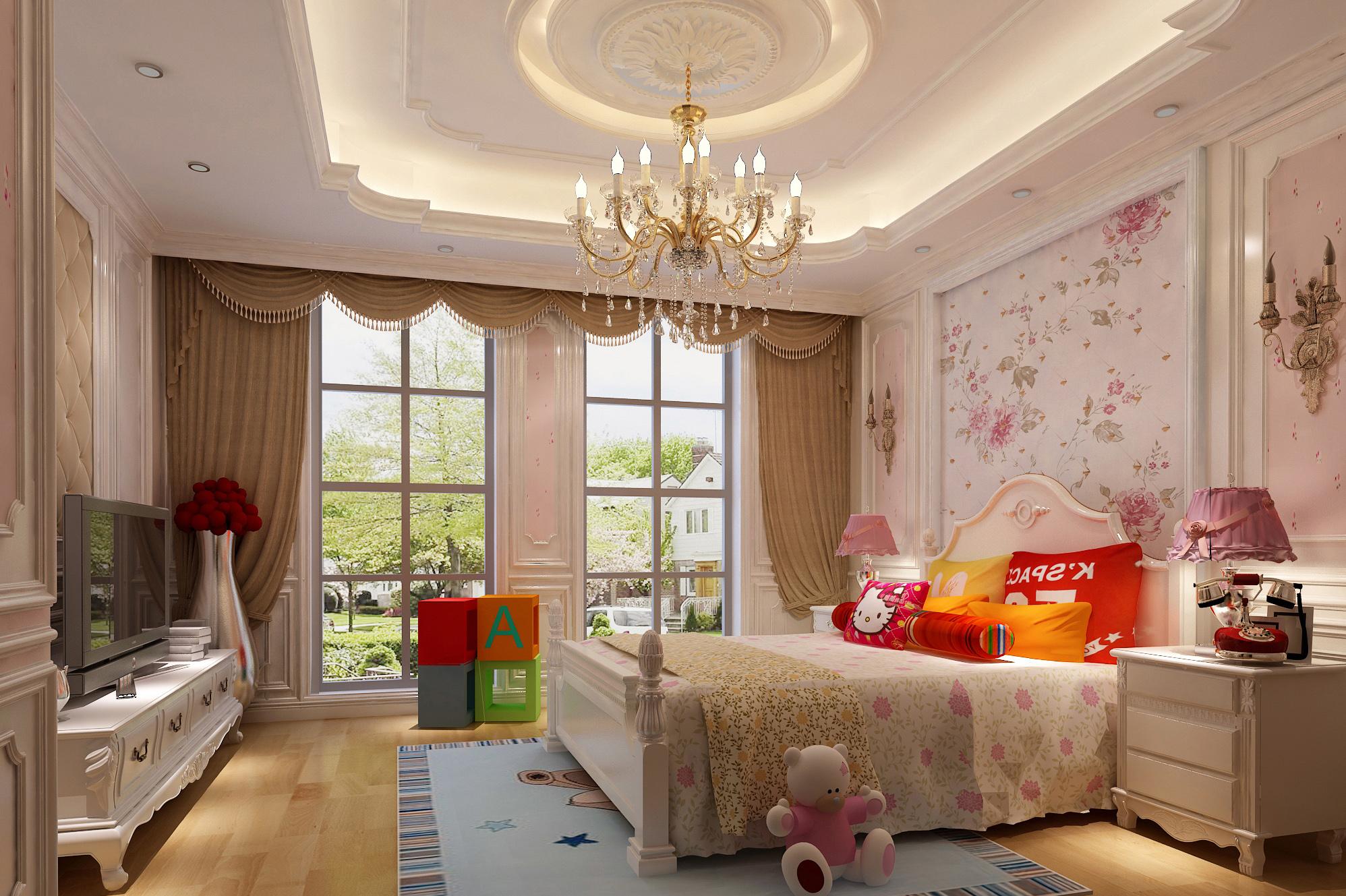 别墅 美式 儿童房图片来自轻舟装饰-90后的华仔在格拉斯小镇-1000平米-美式风格的分享