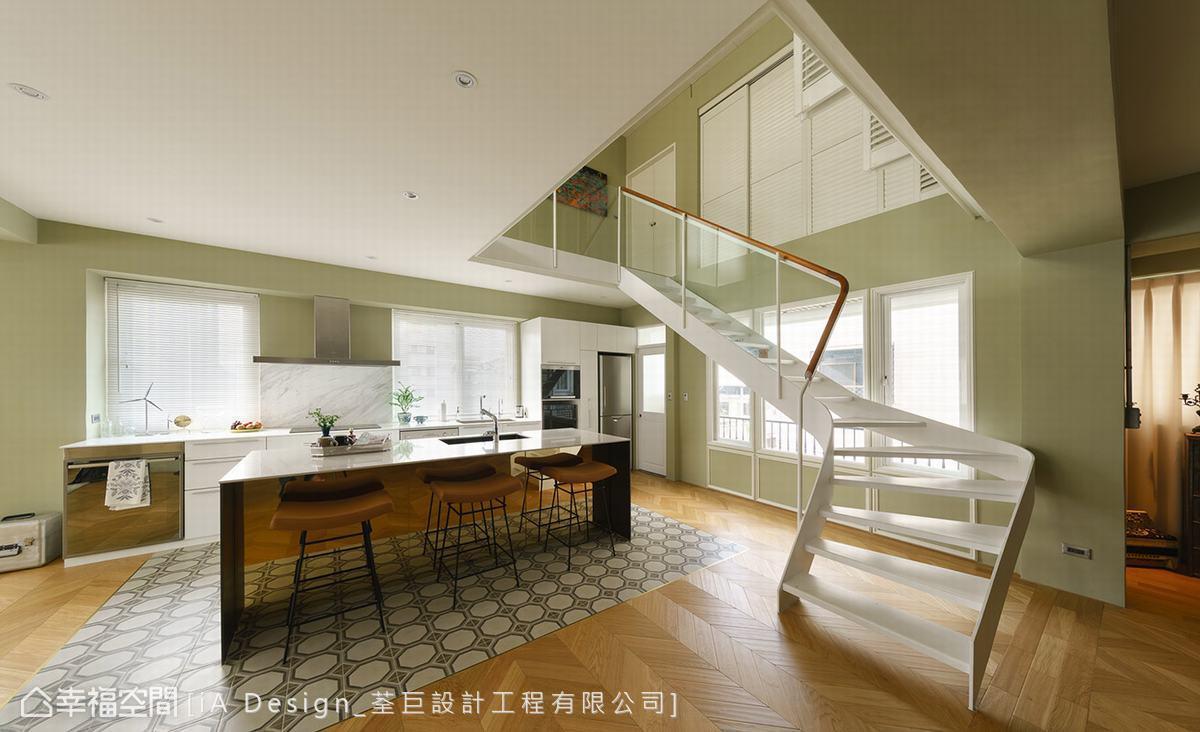 混搭 跃层 旧房改造 楼梯图片来自幸福空间在复刻记忆 165平美剧复古场景的分享