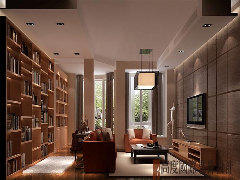 简约 现代 别墅 收纳 80后 客厅图片来自北京高度国际装饰在香溪渡325㎡现代简约的分享