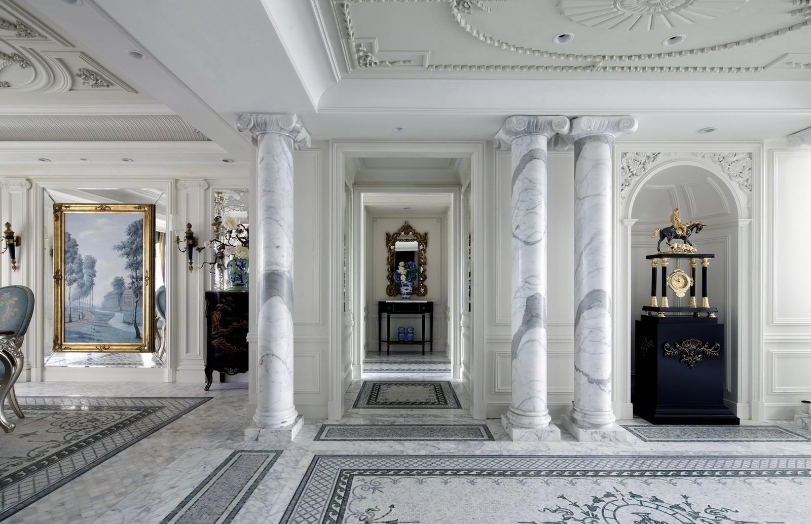 别墅装修 别墅设计 别墅效果图 法式风格 客厅图片来自石家庄亿佰居装饰在法式别墅的浪漫与品味的分享