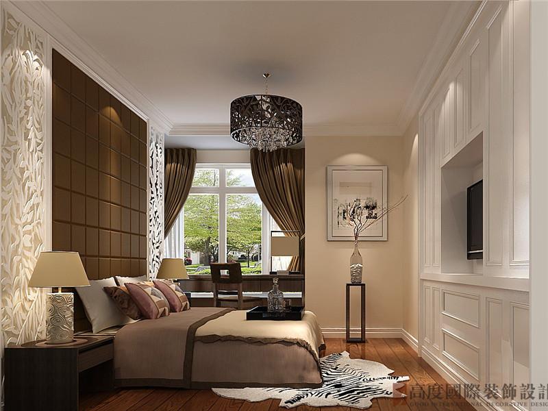 简约 中式 三居 白领 小资 卧室图片来自北京高度国际装饰在K2百合湾120㎡简约中式的分享