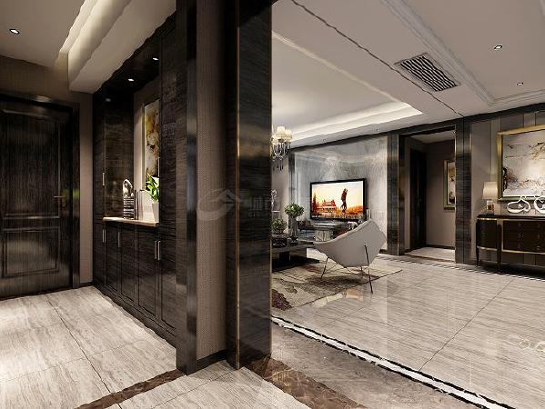 门厅:新潮大胆的追求个性化色彩,不拘俗套也追求时尚的风采,港式的空间总是用家具与饰物来引领潮流,令人眼镜为之一亮。