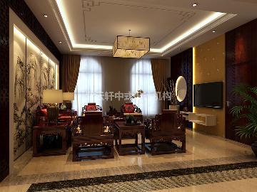 北京大兴别墅的现代中式装修实例