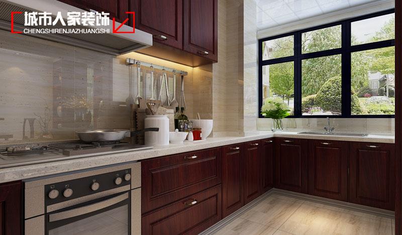 三居 收纳 80后 中式 小资 厨房图片来自太原城市人家原卯午在古风•丽华苑140平米中式设计的分享