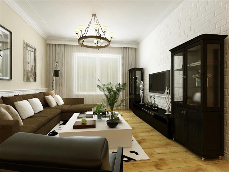 龙发装饰 王府壹号 两居 北欧 客厅图片来自龙发装饰天津公司在王府壹号90平米北欧风格的分享