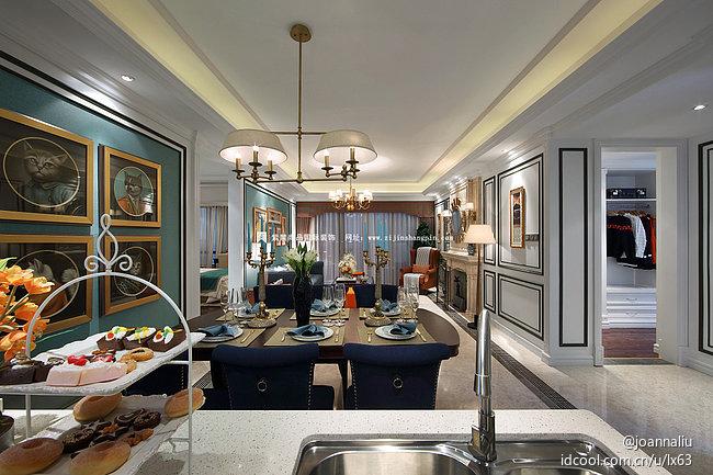 北京公寓 软装 常楹公元 欧式古典风 餐厅图片来自北京紫禁尚品装饰刘霞在常楹公元古典欧式风格软装作品的分享