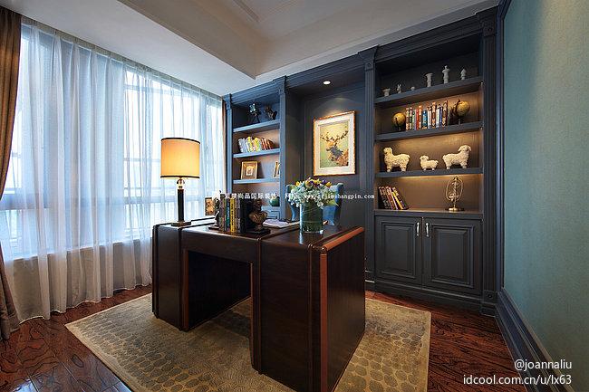 北京公寓 软装 常楹公元 欧式古典风 书房图片来自北京紫禁尚品装饰刘霞在常楹公元古典欧式风格软装作品的分享