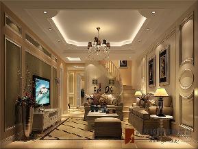 混搭 别墅 高帅富 小资 白富美 客厅图片来自高度国际姚吉智在280平米混搭风格别墅美到极致的分享