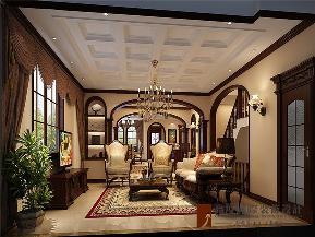 美式 别墅 高帅富 小资 白富美 客厅图片来自高度国际姚吉智在600平米美式独栋别墅忠于品位的分享