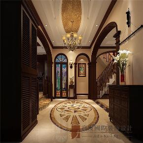 美式 别墅 高帅富 小资 白富美 玄关图片来自高度国际姚吉智在600平米美式独栋别墅忠于品位的分享