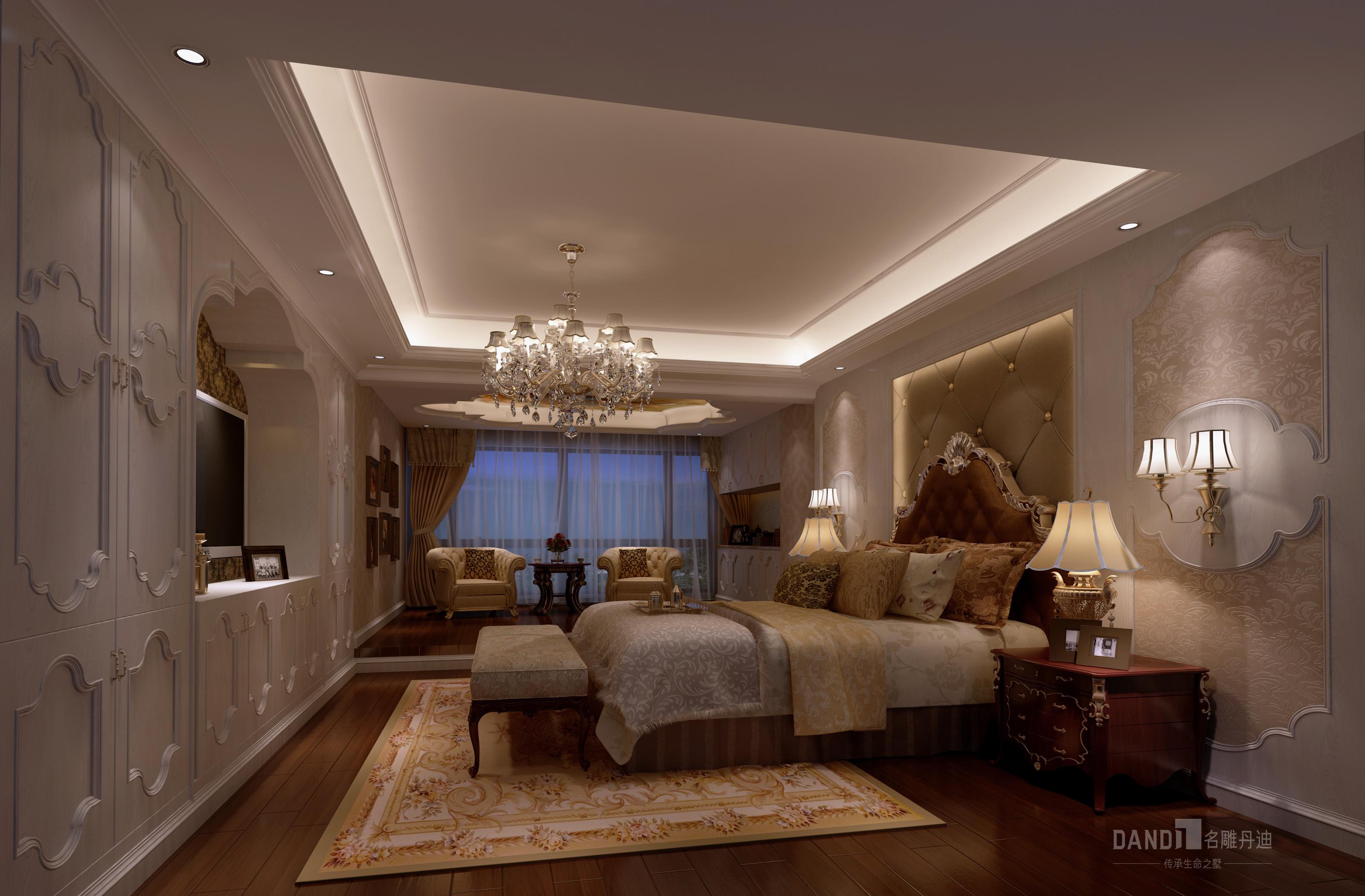 卧室图片来自在万科璞悦山新古典风格装修的分享