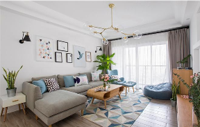 二居 北京 装修 北欧 宜家 公寓 客厅图片来自北京紫禁尚品装饰刘霞在120平北欧宜家风 简约而不简单的分享