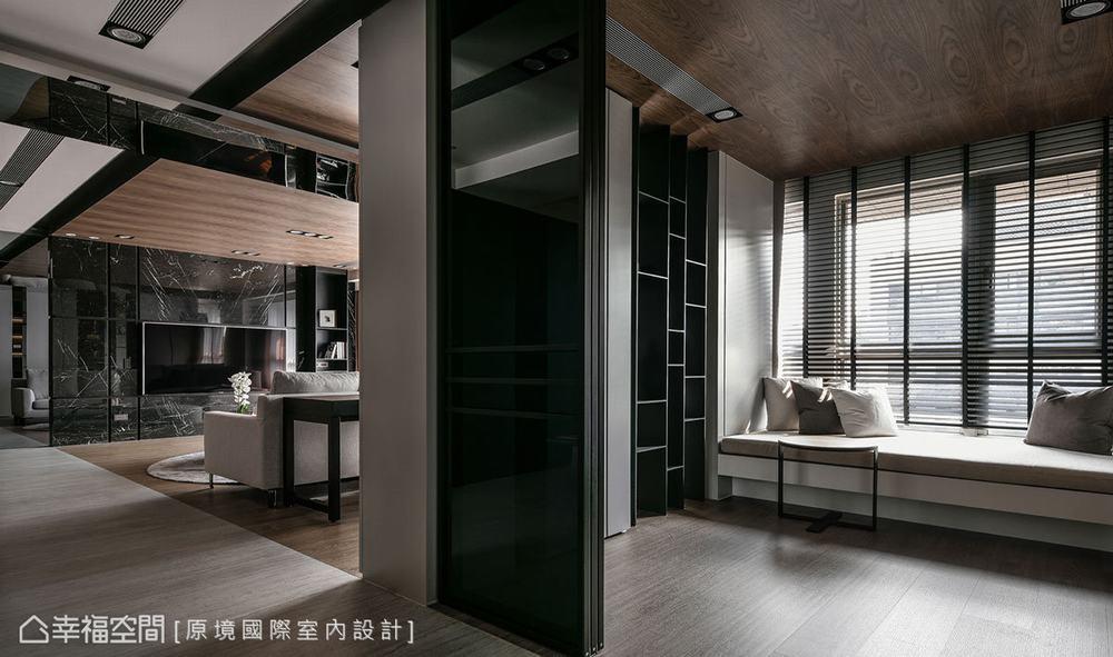 现代 三居 书房图片来自幸福空间在共享空间 沉浸122平自然人文之境的分享