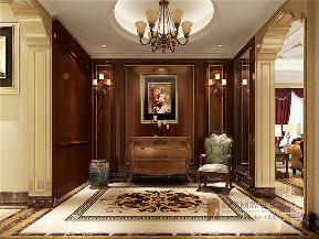 欧式 新古典 复式 小资 80后 玄关图片来自高度国际姚吉智在280平米欧式新古典风格复式楼的分享